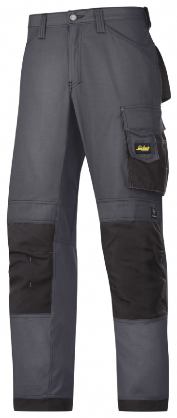 Snickers 3313 Rip-Stop Craftsmen Trousers (Steel Grey/ Black)